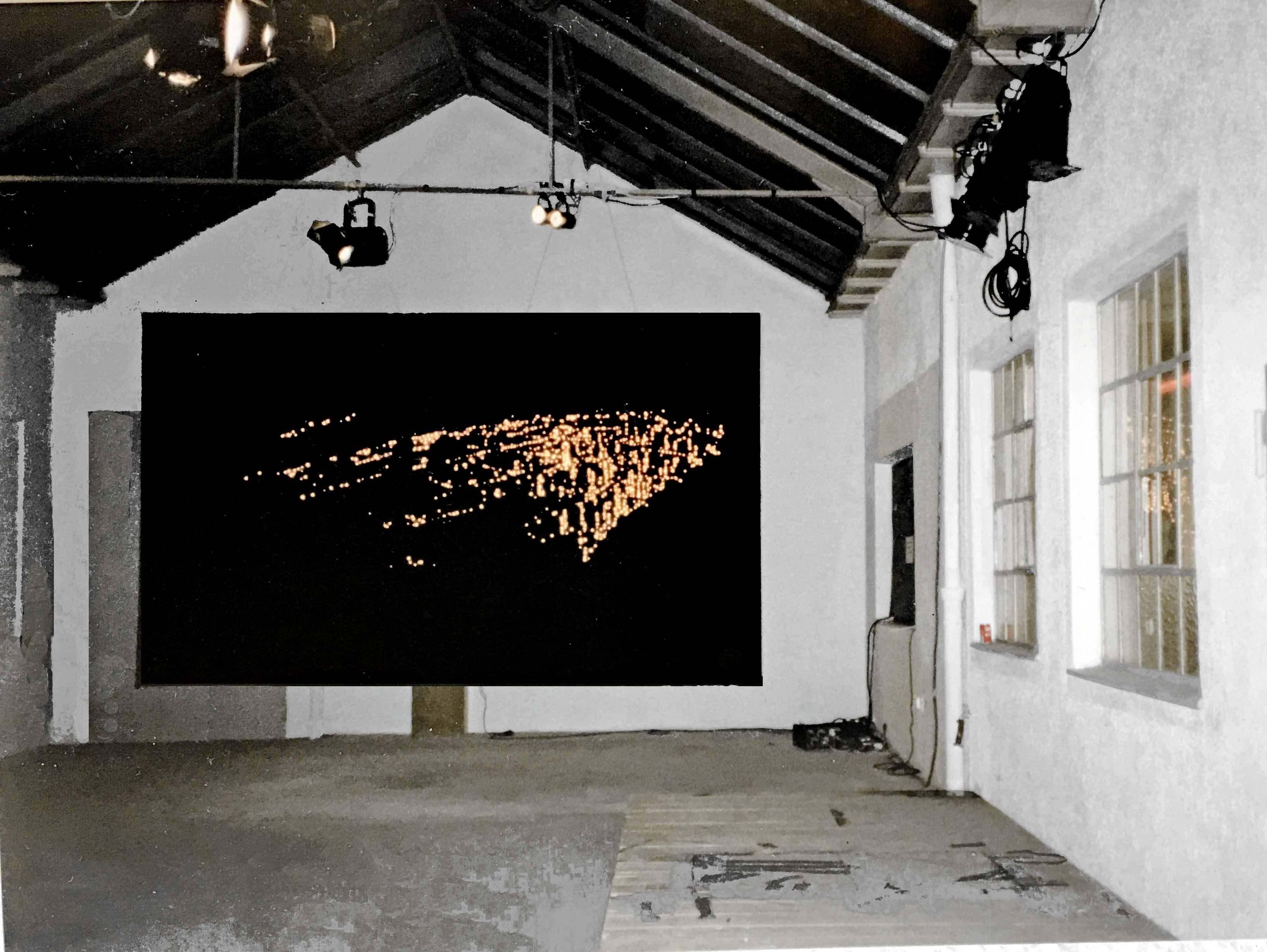 new york vogelperspektive, installation, kunsthalle alte ritterwerke, pasing 1988
