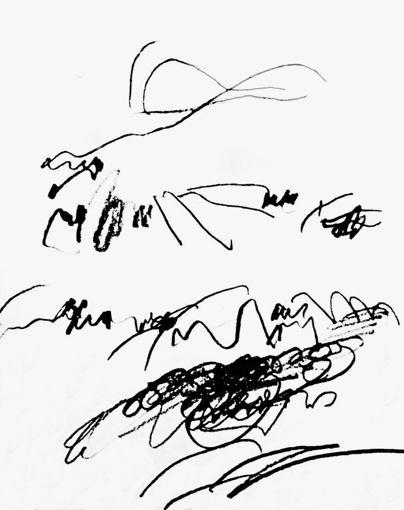 magic incantations (1-3), ink on paper, 30 cm x 40 cm,  1989,