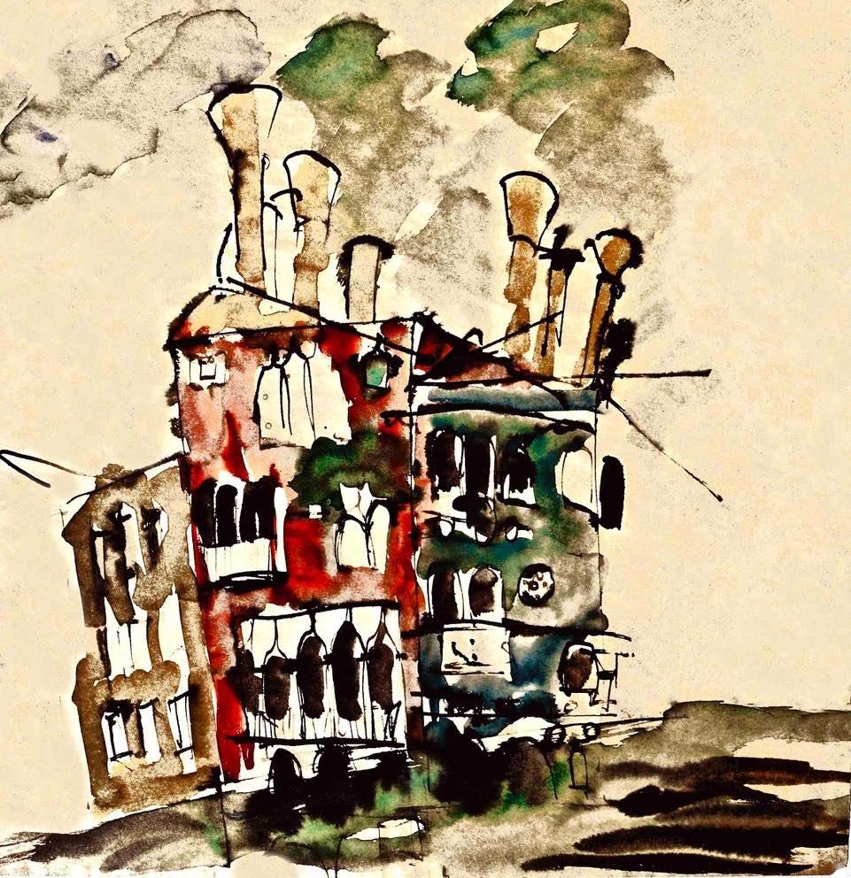 venedig, aquarell, 1983