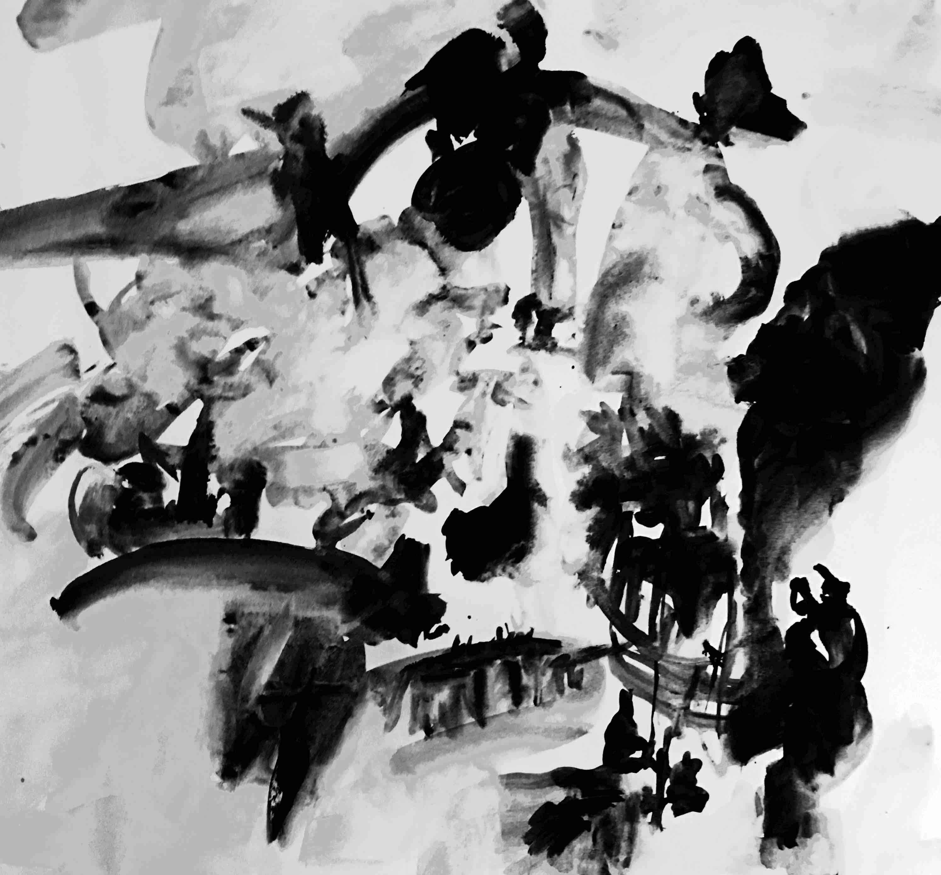 ohne titel (4), acryl/papier