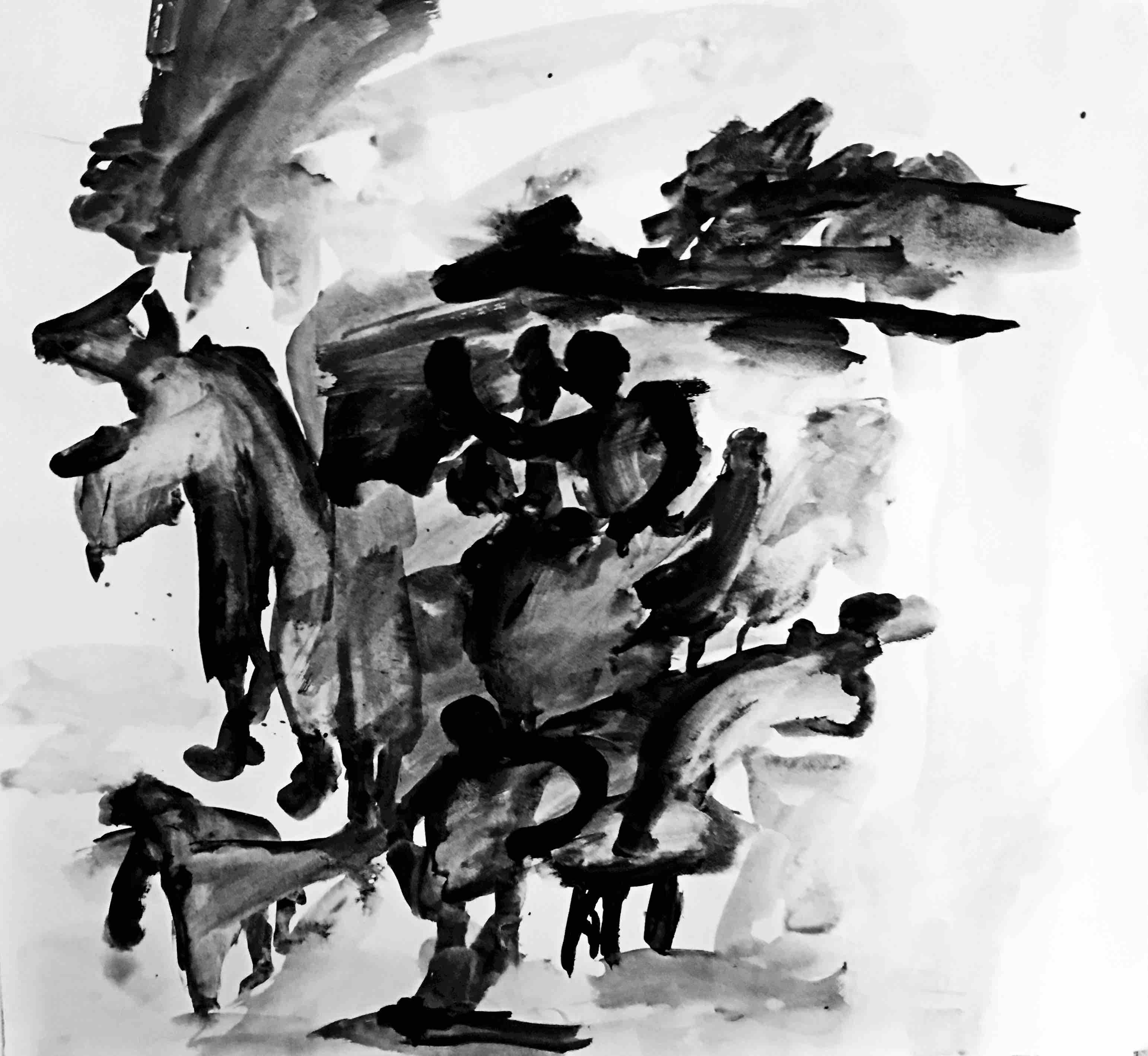 ohne titel (3), acryl/papier